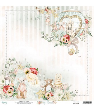 Papier do scrapbookingu Mintay Papers - Tiny Miracle 03