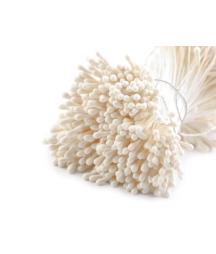 Pręciki do ręcznego wyrobu kwiatów - kremowe matowe