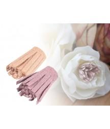 Środki do kwiatów, frędzelki 10 szt., różowe