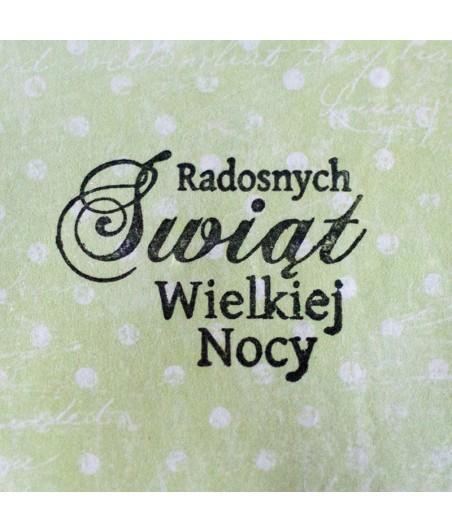 Stempel akrylowy do scrapbookingu Radosnych Świąt Wielkiej Nocy - Agateria