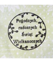 Stempel akrylowy do scrapbookingu Pogodnych radosnych Świąt Wielkanocnych - Agateria
