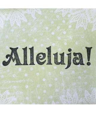 Stempel akrylowy do scrapbookingu Alleluja 1 - Agateria
