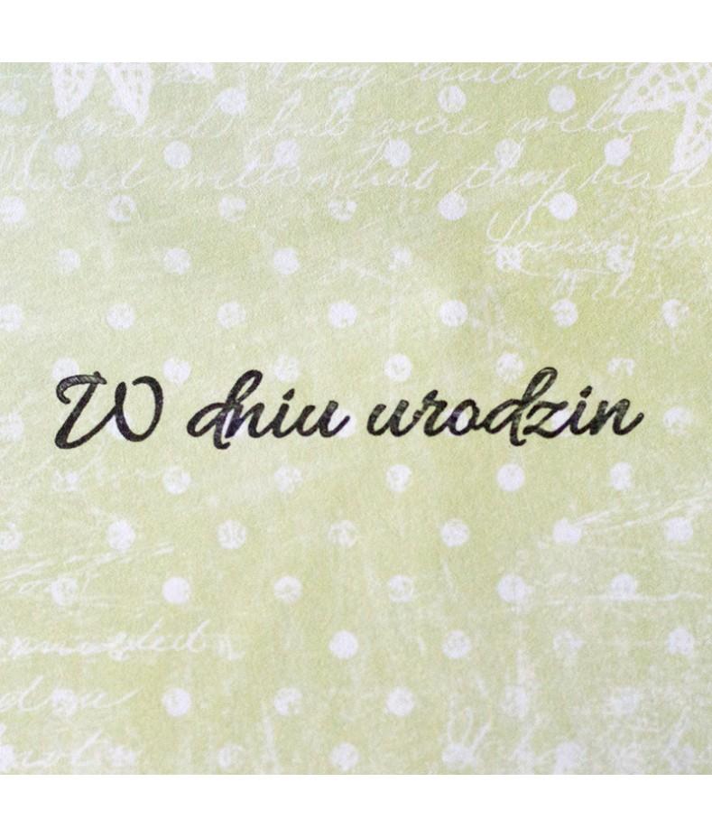 Stempel akrylowy do scrapbookingu - W dniu urodzin - Agateria