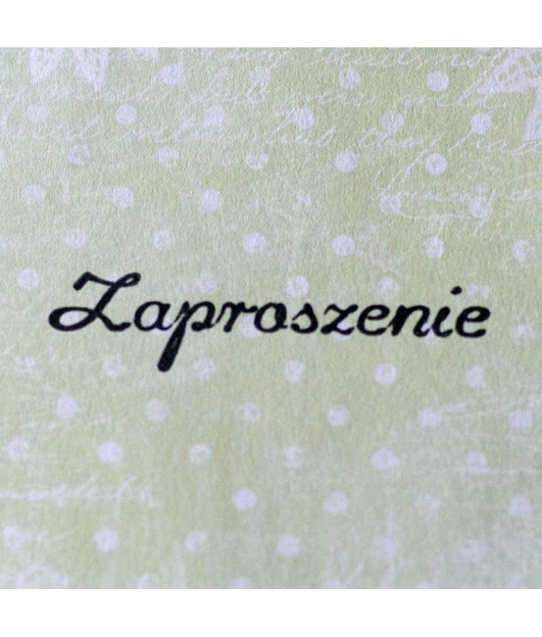 Stempel akrylowy do scrapbookingu - Zaproszenie - Agateria