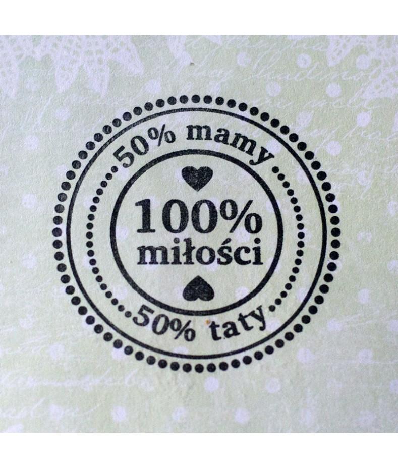 Stempel akrylowy do scrapbookingu - 100% miłości - Agateria