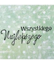 Stempel akrylowy do scrapbookingu - Wszystkiego najlepszego - Agateria