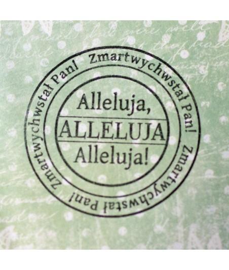 Stempel akrylowy do scrapbookingu - Alleluja! Zmartwychwstał Pan! - Agateria