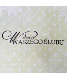 Stempel akrylowy do scrapbookingu - W dniu Waszego Ślubu