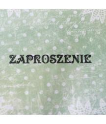 Stempel akrylowy do scrapbookingu - Zaproszenie