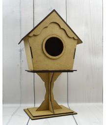 Domek dla ptaków z MDF - baza do ozdabiania