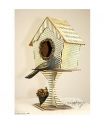 Domek dla ptaków na nóżce - baza MDF do dekorowania - Agateria
