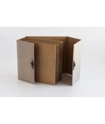Baza albumowa do scrapbookingu 16.2x16.5, BAZYliszek - kraft z zapięciem - Eco-Scrap