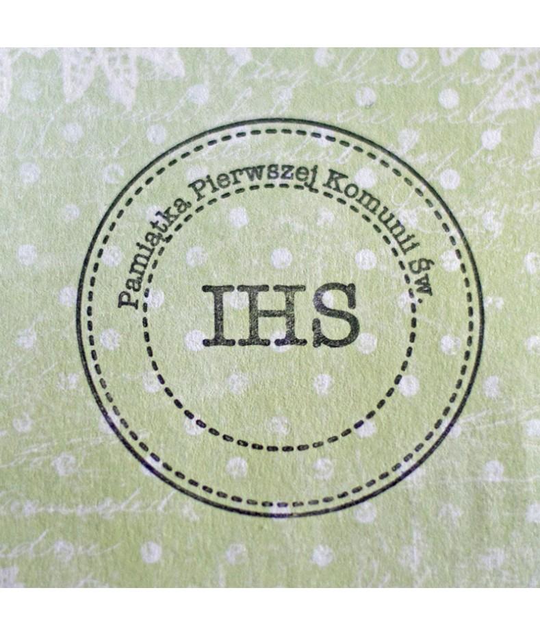 Stempel akrylowy do scrapbookingu IHS Pamiątka Pierwszej Komunii Świętej 3 - Agateria