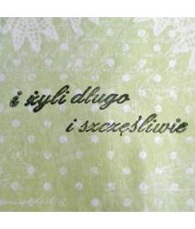 Stempel akrylowy do scrapbookingu I żyli długo i szczęśliwie - Agateria