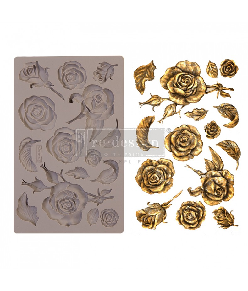 Forma silikonowa do decoupage - Róże Prima Marketing 644901
