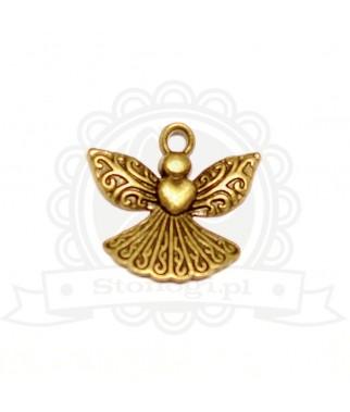 Metalowa zawieszka aniołek - dodatek biżuteryjny i do scrapbookingu