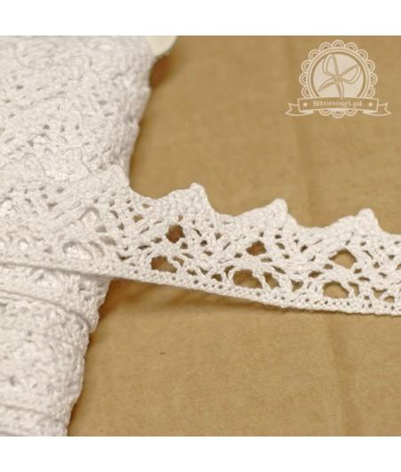 Koronka bawełniana biała - do dekoracji i do scrapbookingu