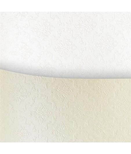 Papier wizytówkowy A4 tłoczony - Ornament biały