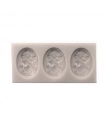 Forma silikonowa do decoupage - Antyczne medaliony