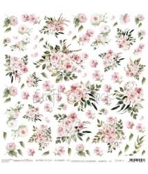 Arkusz do scrapbookingu Craft O'Clock Kwiatki XI / 11 - róże