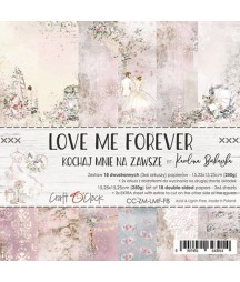 Zestaw papierów do scrapbookingu Craft O'Clock, Love Me Forever - idealne na Ślub