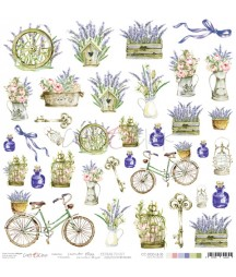 Arkusz do scrapbookingu Craft O'Clock Lavender Bliss