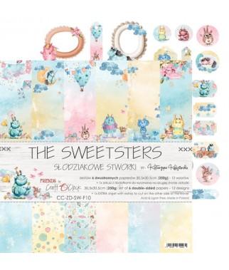 Zestaw papierów do scrapbookingu Craft O'Clock, The Sweetsters - dziecięce potworki
