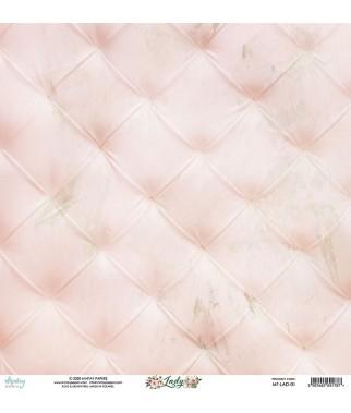 Papier do scrapbookingu Mintay Papers 12x12, Lady 01 tył