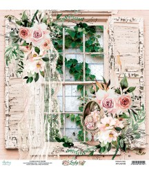 Papier do scrapbookingu Mintay Papers 12x12, Lady 02 przód