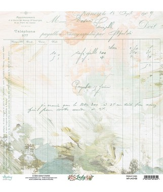 Papier do scrapbookingu Mintay Papers 12x12, Lady 05 tył