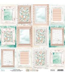 Papier do scrapbookingu 12x12, Suntastic 06 arkusz kart Mintay Papers
