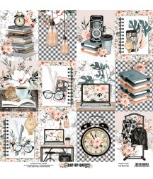 Papier do scrapbookingu Mintay Papers 12x12, Day by Day 06 przód