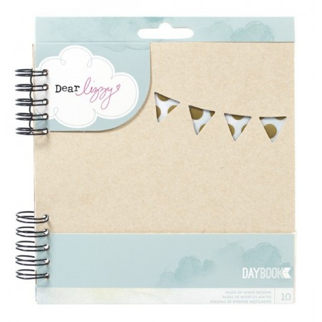 Notes do journalingu, Dear Lizzy Spiral Daybook, Happy Way W/10 Mixed Design Page - WYPRZEDAŻ