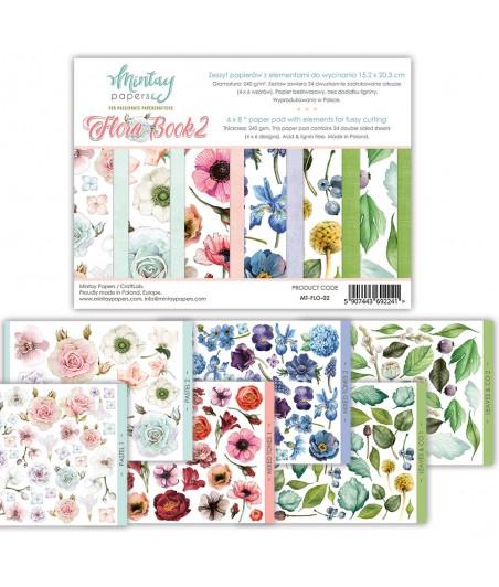 Papiery do scrapbookingu z elementami do wycinania, Flora Book 2 - Mintay Papers