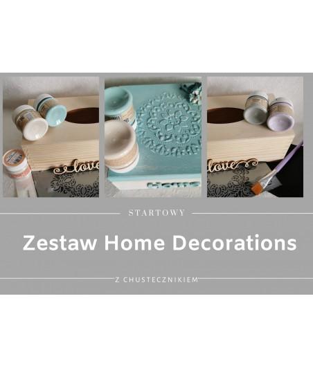 Zestaw startowy home decorations - chustecznik malowany farbami kredowymi