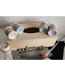 Zestaw startowy home decorations z chustecznikiem i farbami kredowymi