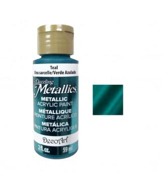 Farba metaliczna Dazzling Metallics, Teal - turkusowa, 59 ml DA322