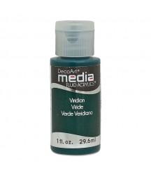 Fluid akrylowy DecoArt, Viridian Green Hue - ciemnozielony, DMFA44