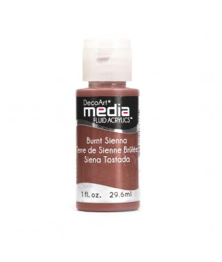 Fluid akrylowy DecoArt, Burnt Sienna - siena palona DMFA02