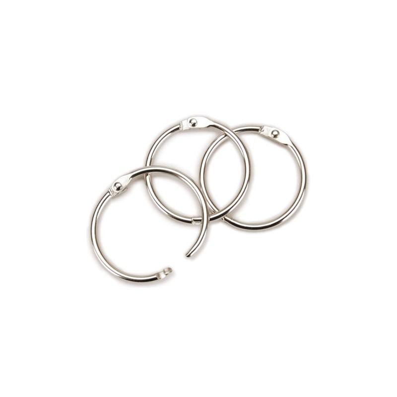 Pierścień kółko do albumów - 1 cal - srebrny
