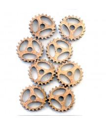 Dekory z HDF - Trybiki - Gears H - 24 mm - produkty do decoupage i mixed media