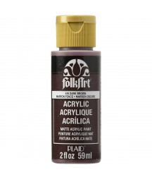 Farba akrylowa ciemnobrązowa - dark brown Plaid 59 ml