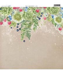 Na jagody 01 - papier do scrapbookingu od Galerii Papieru / Paper Heaven