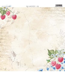 Na jagody 04 - papier do scrapbookingu od Galerii Papieru / Paper Heaven