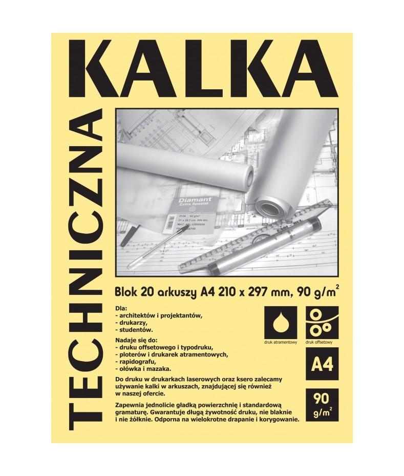 Kalka techniczna Koh-i-noor, 10 arkuszy A4 90 g/m2