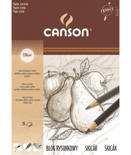 Szkicownik Canson, papier ziarnisty, 25 arkuszy A4