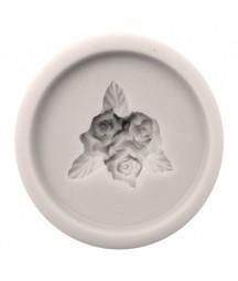 Forma silikonowa do decoupage - Bukiet różyczek okrągły