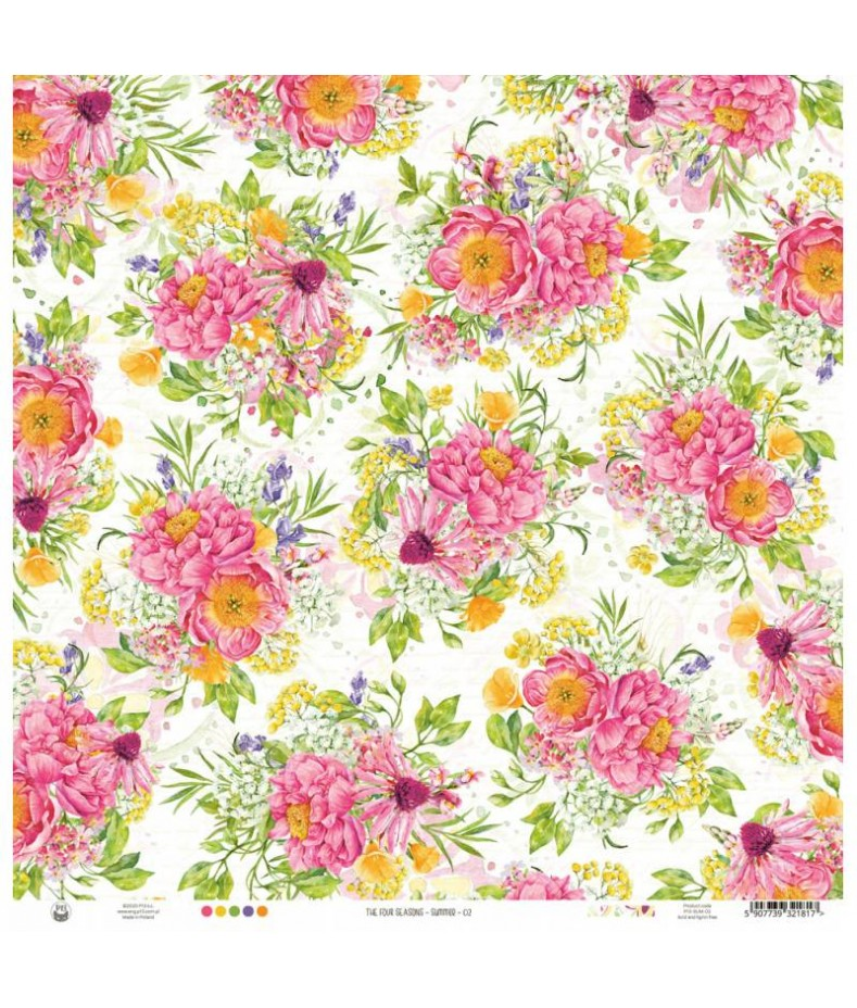 Papier do scrapbookingu P13, The Four Seasons Summer 02