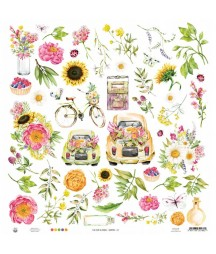 Papier do scrapbookingu P13, The Four Seasons Summer 07 - dodatki do wycinania