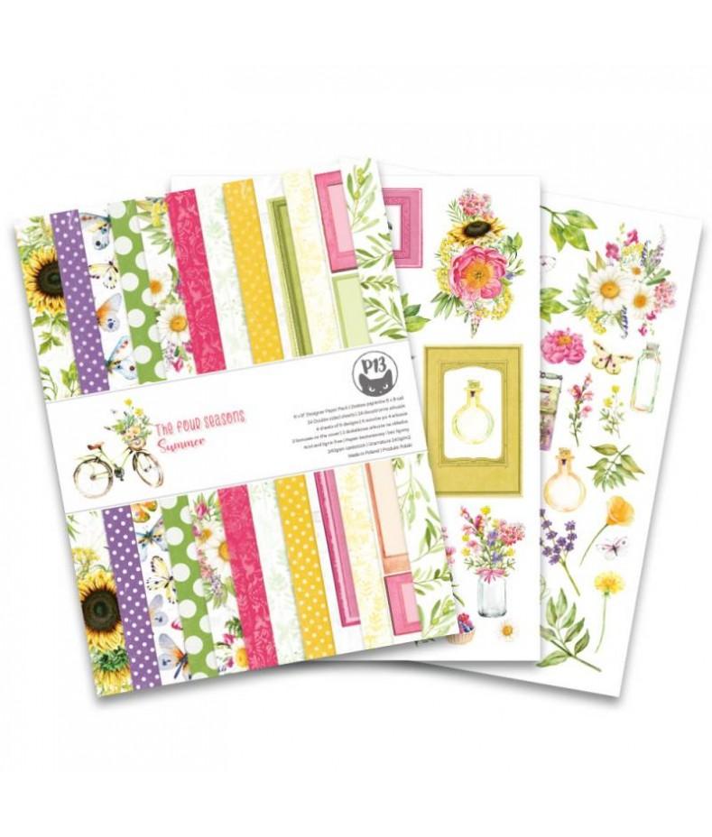 Zestaw papierów do scrapbookingu The Four Seasons - Summer - Piątek Trzynastego